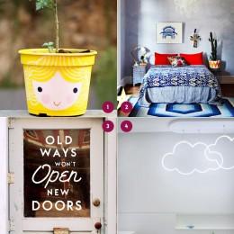 Achei bonito #6: vasinho fofo, estampas, portas e nuvens