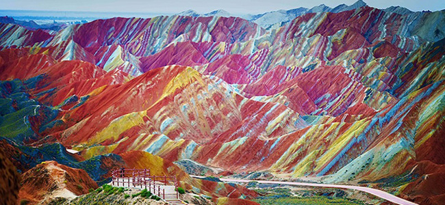 Montanhas coloridas na China, post do Hypeness