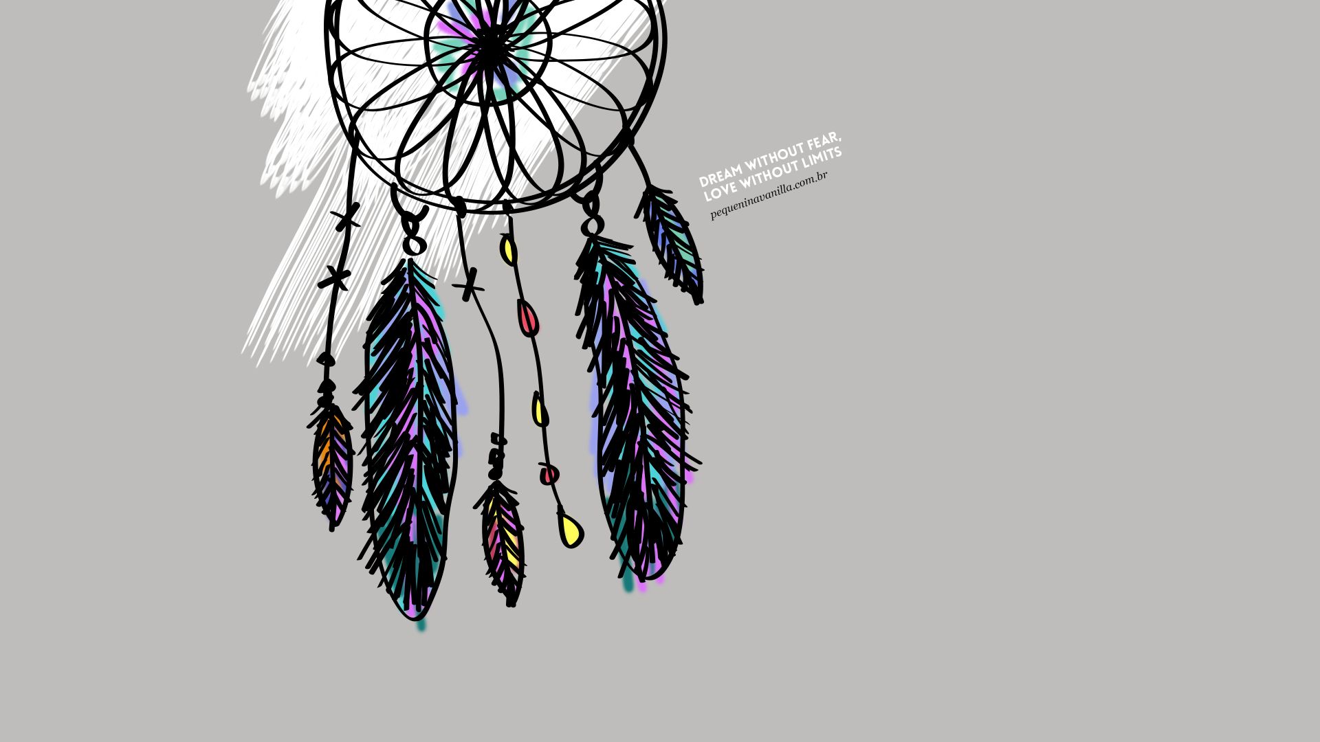 grey illustrated dreamcatcher dream love desktop wallpaper background iphone and desktop wallpapers pinterest wallpaper backgrounds and wallpaper