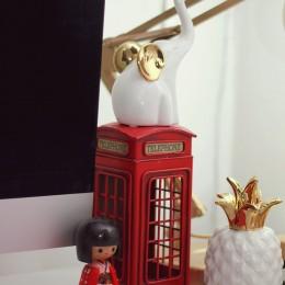 Como decorei meu workspace + D.I.Y. cofrinho-porquinho customizado