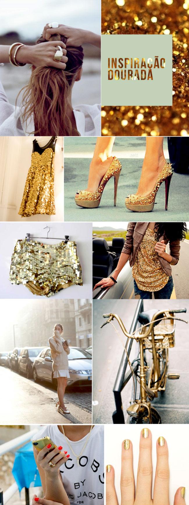 inspiração brilho dourado