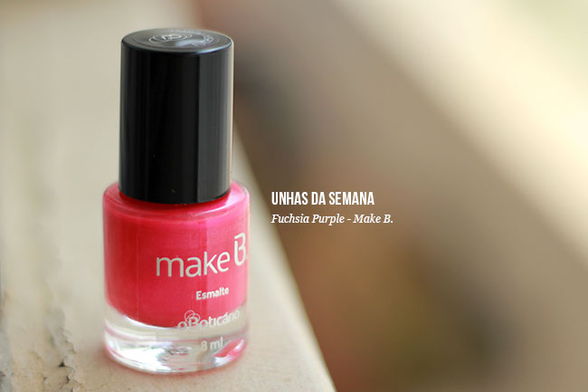 Esmalte  Make B - Fuchsia Purple